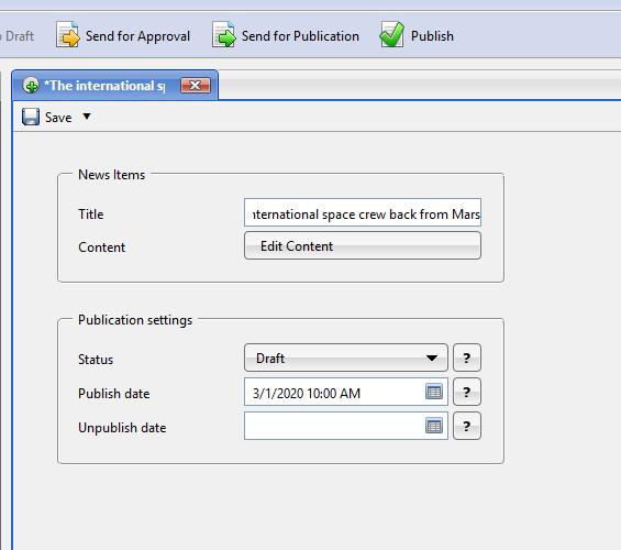 Scheduled-Data-Publishing
